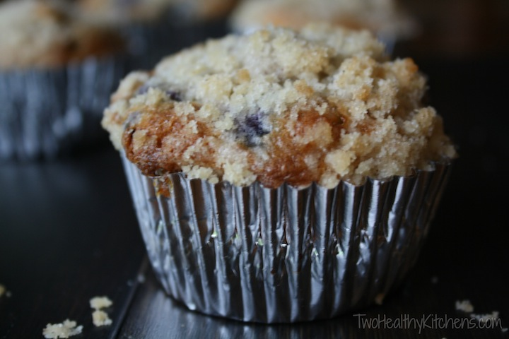 These make-over Blueberry-White Chocolate Muffins are a blissfully ...