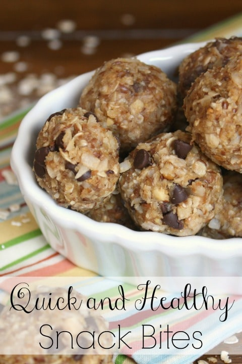 Quick and Healthy Snack Bites Recipe {www.TwoHealthyKitchens.com}