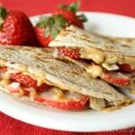 Strawberry-Peanut Butter Quesadillas