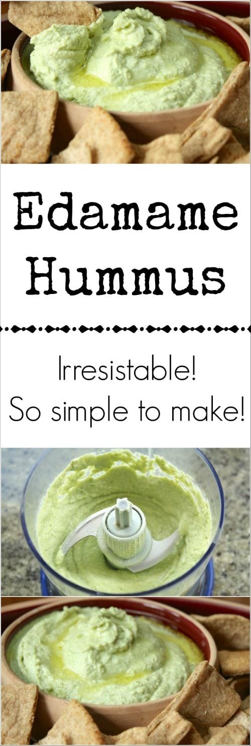 Edamame Hummus Recipe {www.TwoHealthyKitchens.com}