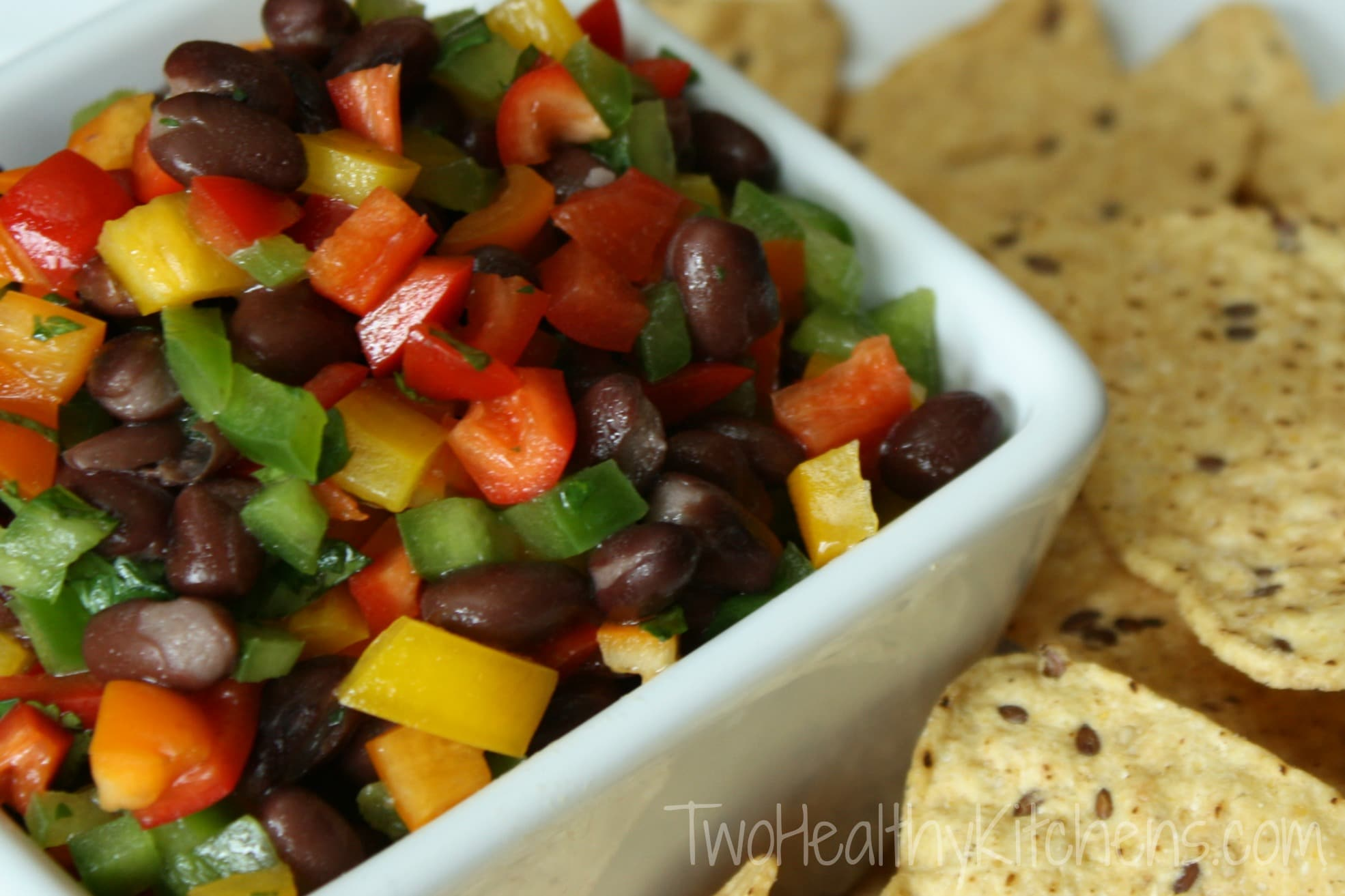 Rainbow Pepper Salsa | Two Healthy Kitchens