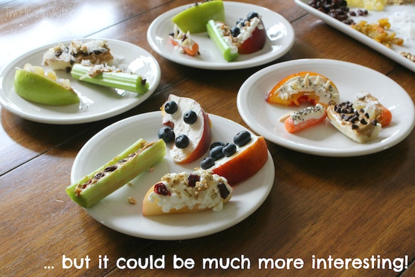 Ants on a Log 2.0 Recipe {www.TwoHealthyKitchens.com}