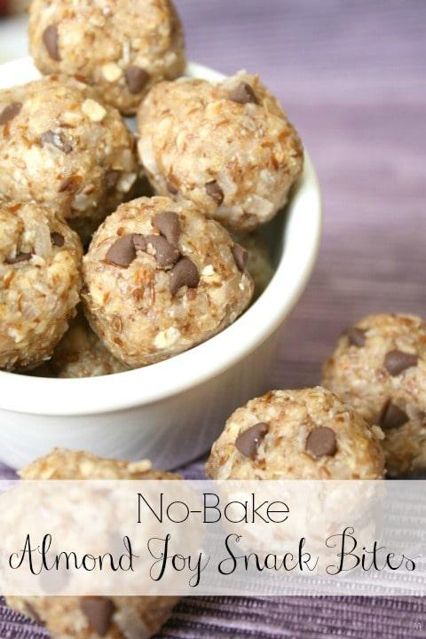 No-Bake Almond Joy Snack Bites Recipes {www.TwoHealthyKitchens.com}