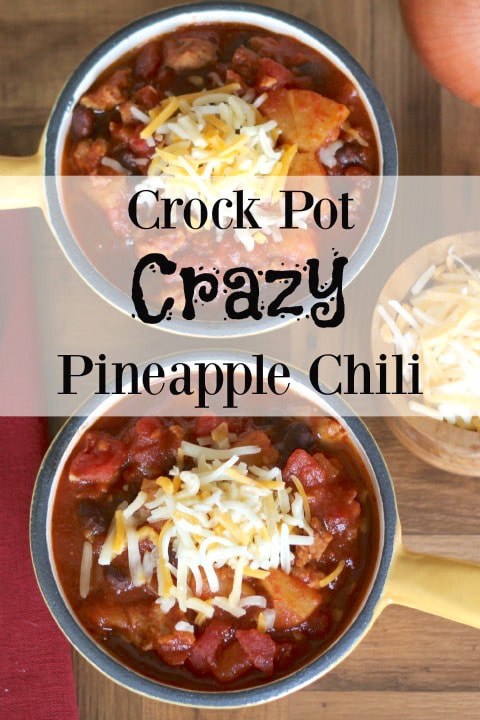 Crock-Pot Crazy Pineapple Chili Recipe {www.TwoHealthyKitchens.com}
