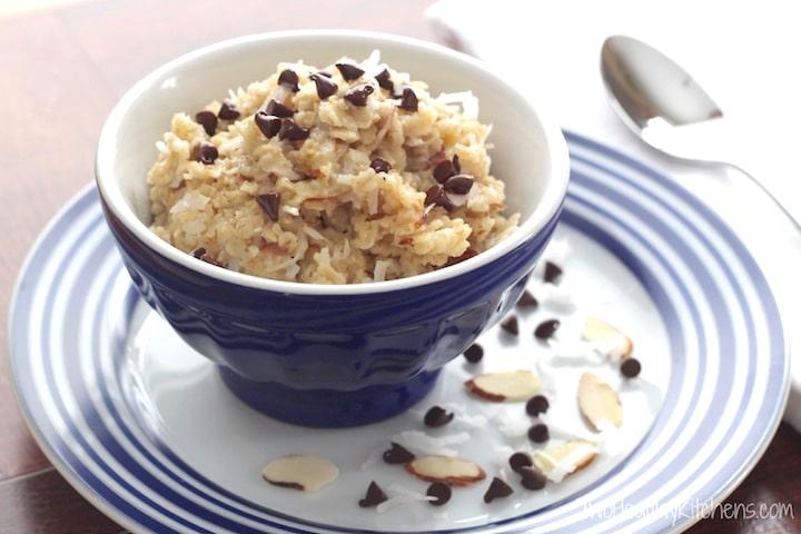 Almond Joy Oatmeal Recipe {www.TwoHealthyKitchens.com}