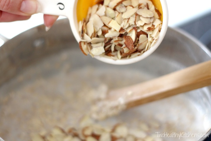 Almond Joy Oatmeal {Two Healthy Kitchens}