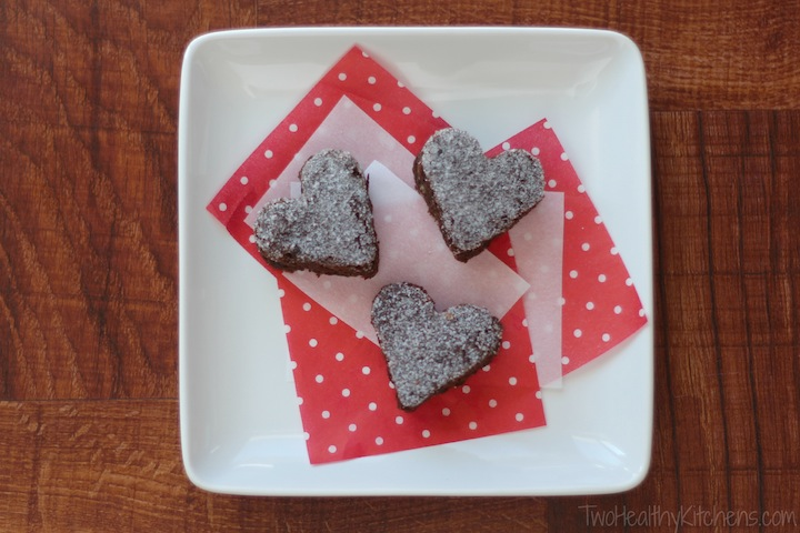 Surprisingly Decadent Brownies (Healthy, Whole Wheat & One Bowl!) {from Two Healthy Kitchens}