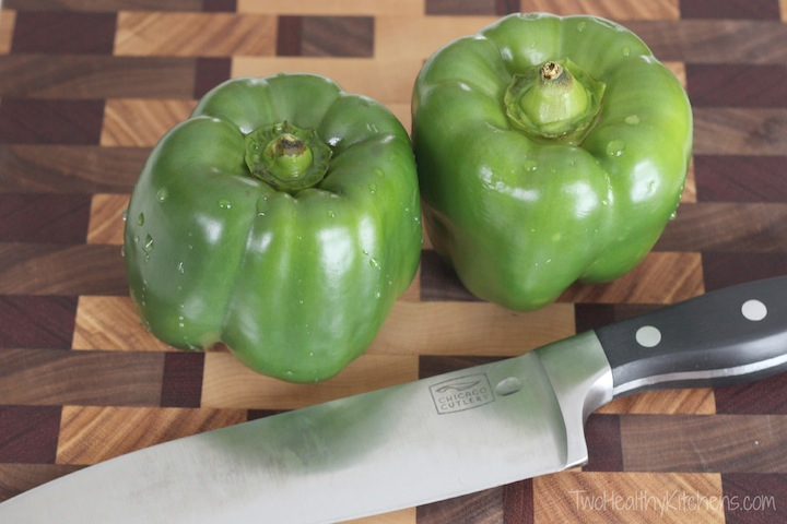 Un-Stuffed Green Pepper Skillet {Two Healthy Kitchens}