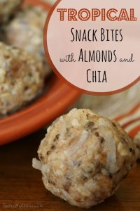 Tropical Snack Bites with Almonds and Chia Text