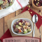Hearty Fruit and Nut Salad with Greek Yogurt Dressing