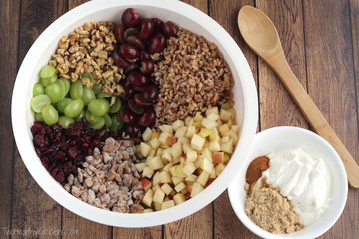 ... apple farro breakfast bowl with cranberries and hazelnuts farro salad
