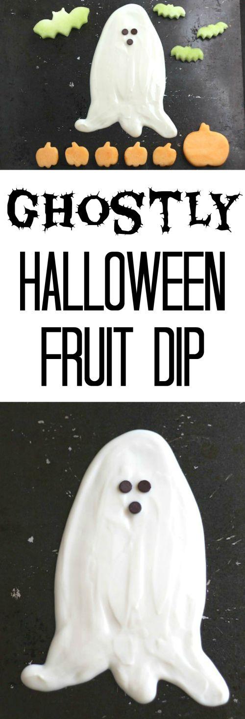 Ghostly Halloween Fruit Dip Recipe – (Yet Another!) Healthy Halloween Treat {www.TwoHealthyKitchens.com}