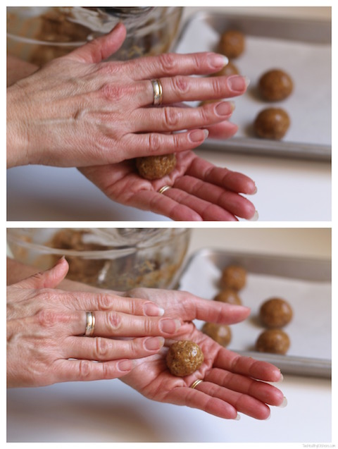 "Chocolate-Covered Peanut Butter Balls (""Buckeyes"") Recipe {www.TwoHealthyKitchens.com}"