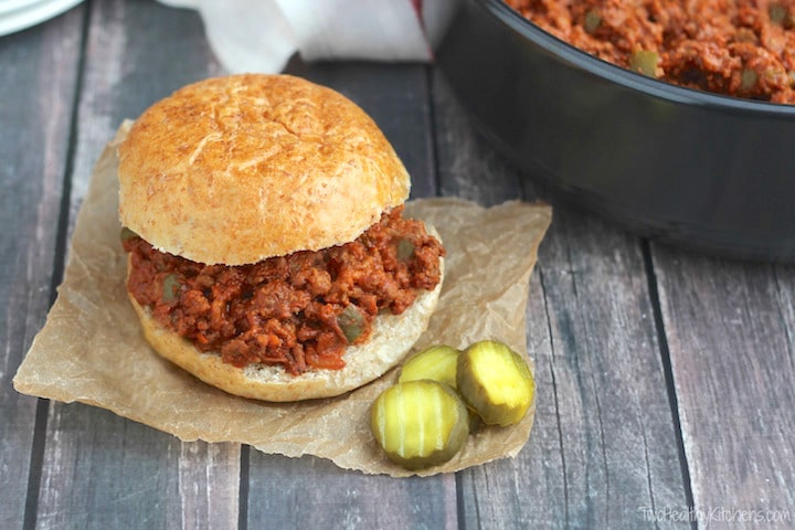Best Ever Sloppy Joes Recipe {www.TwohealthyKitchens.com}
