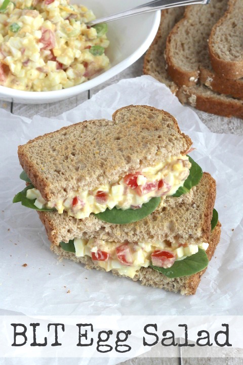 BLT Egg Salad Recipe {www.TwoHealthyKitchens.com}