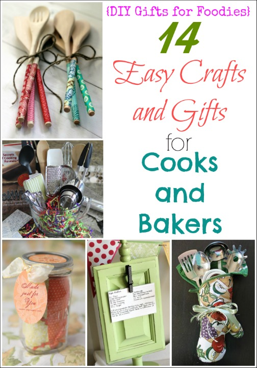 14 Easy Crafts and Gifts for Cooks and Bakers (DIY Gifts for Foodies Week) {Two Healthy Kitchens}