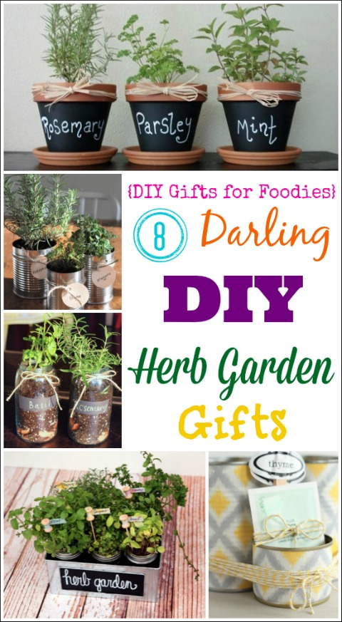 8 Darling DIY Herb Garden Gifts (DIY Gifts for Foodies Week) {Two Healthy Kitchens}