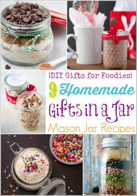 Homemade Gifts in a Jar – 9 Easy Mason Jar Recipes (DIY Gifts for Foodies Week) {Two Healthy Kitchens}