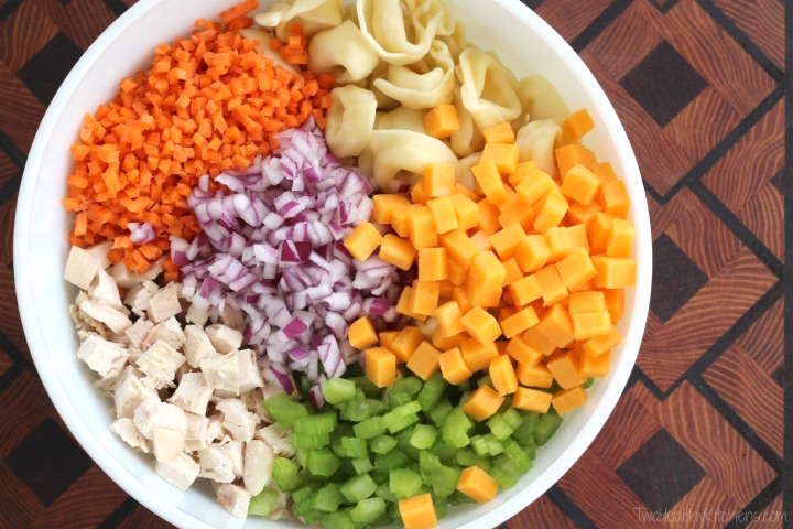 Buffalo Chicken Pasta Salad Recipe {www.TwoHealthyKitchens.com}