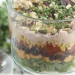 Easy 7-Layer Chicken Taco Salad
