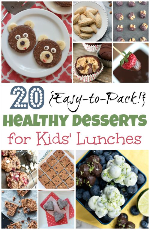 20 Easy-to-Pack, Healthy Desserts for Kids' Lunches {www.TwoHealthyKitchens.com}