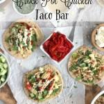 Mediterranean Crock Pot Chicken Taco Bar