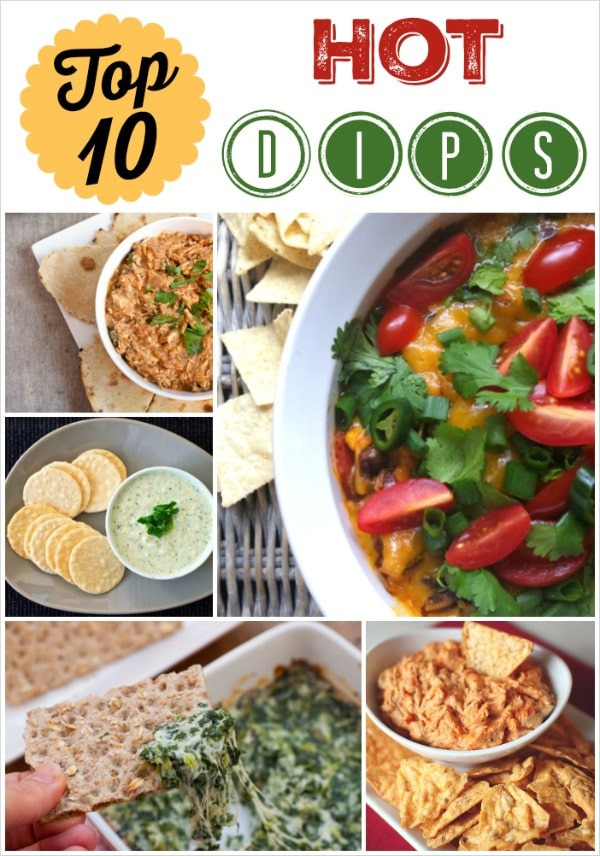 Top 10 Healthy Hot Appetizer Dips {www.TwoHealthyKitchens.com}