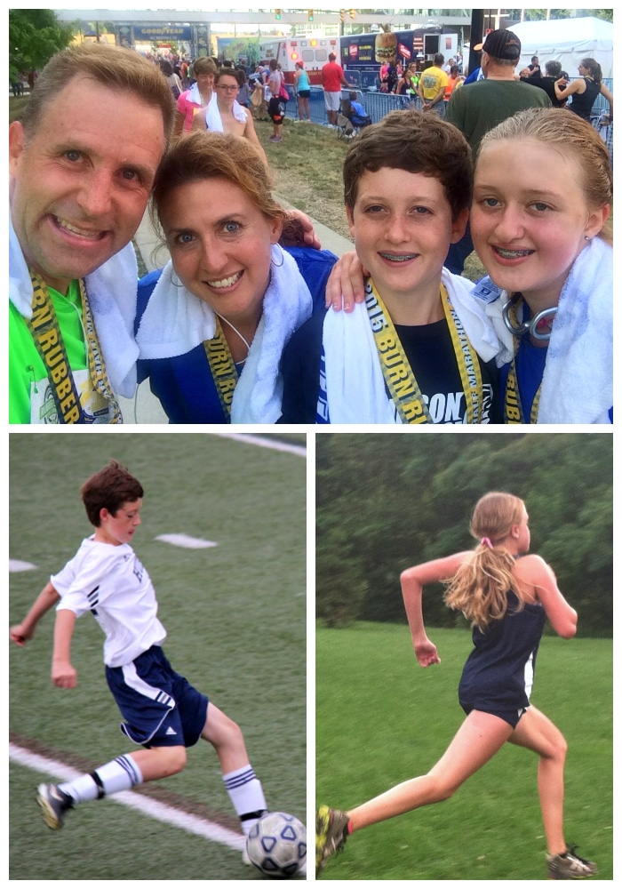 Family sports collage