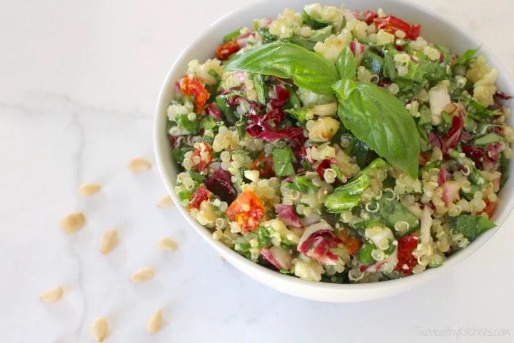 Mediterranean Confetti Quinoa Salad {www.TwoHealthyKitchens.com}