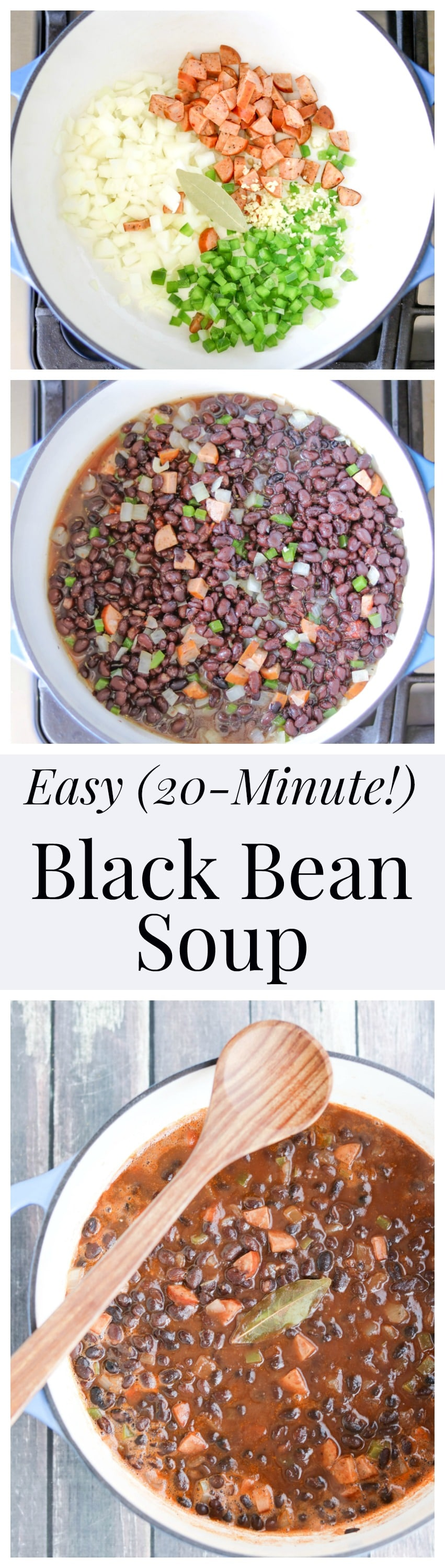 This Easy Black Bean Soup is rich, hearty and filling - and cooks in just 20 minutes! Bonus: we've got directions for crispy-crunchy Cumin-Dusted Bread Bowls that are perfect for serving this delicious soup! AD | www.TwoHealthyKitchens.com