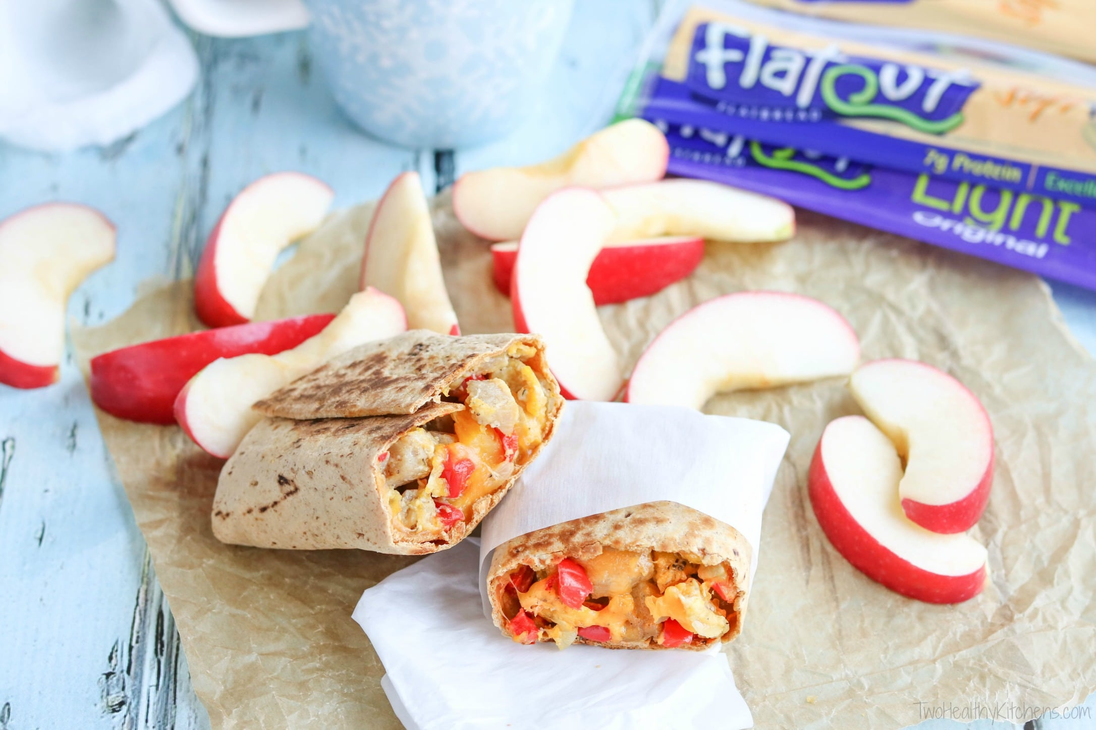 Stock your freezer for busy mornings! These freezable Chicken-Apple Sausage Breakfast Burritos are a make-ahead breakfast you'll actually look forward to! Bursting with big, satisfying flavors! They're crazy-delicious, hearty, and filled with great keep-you-fueled-up nutrition! AD | www.TwoHealthyKitchens.com
