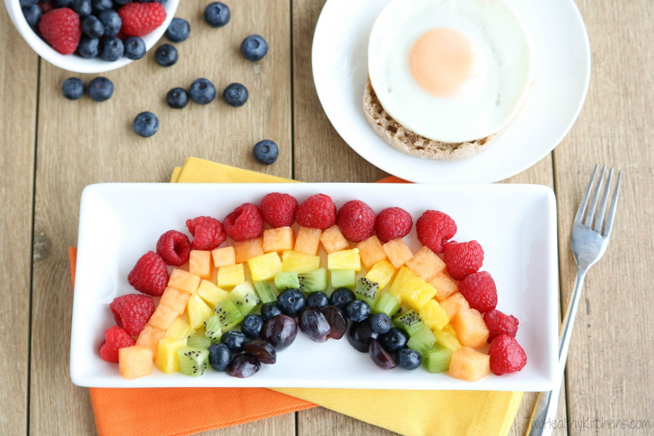 Your Kids Will Love This Fruit Rainbow Breakfast Recipe Complete With A Pot O