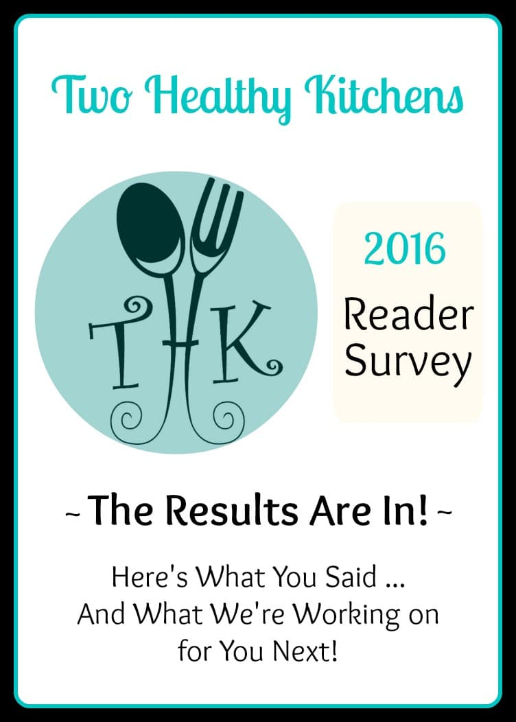 Two Healthy Kitchens 2016 Reader Survey Results | www.TwoHealthyKitchens.com